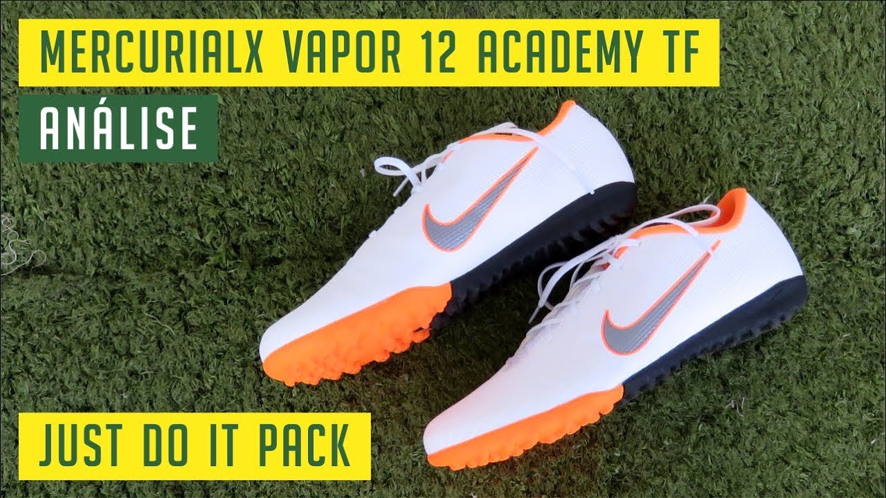 e77deb39b73b5 CHUTEIRA NIKE MERCURIAL VAPOR 12 ACADEMY TF SOCIETY - JUST DO IT ...