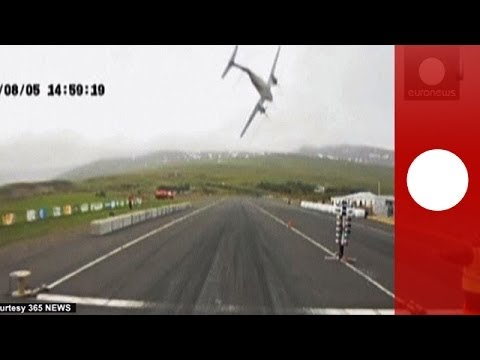 Scary: Plane crashes into racetrack in Iceland and explodes