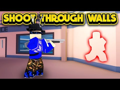 New Shoot Through Walls Glitch Roblox Jailbreak Youtube