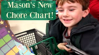 Mason's new reward chart {Daily Vlog}