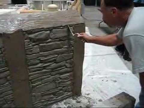 Decorative Concrete Simulated Stone Masonry Youtube