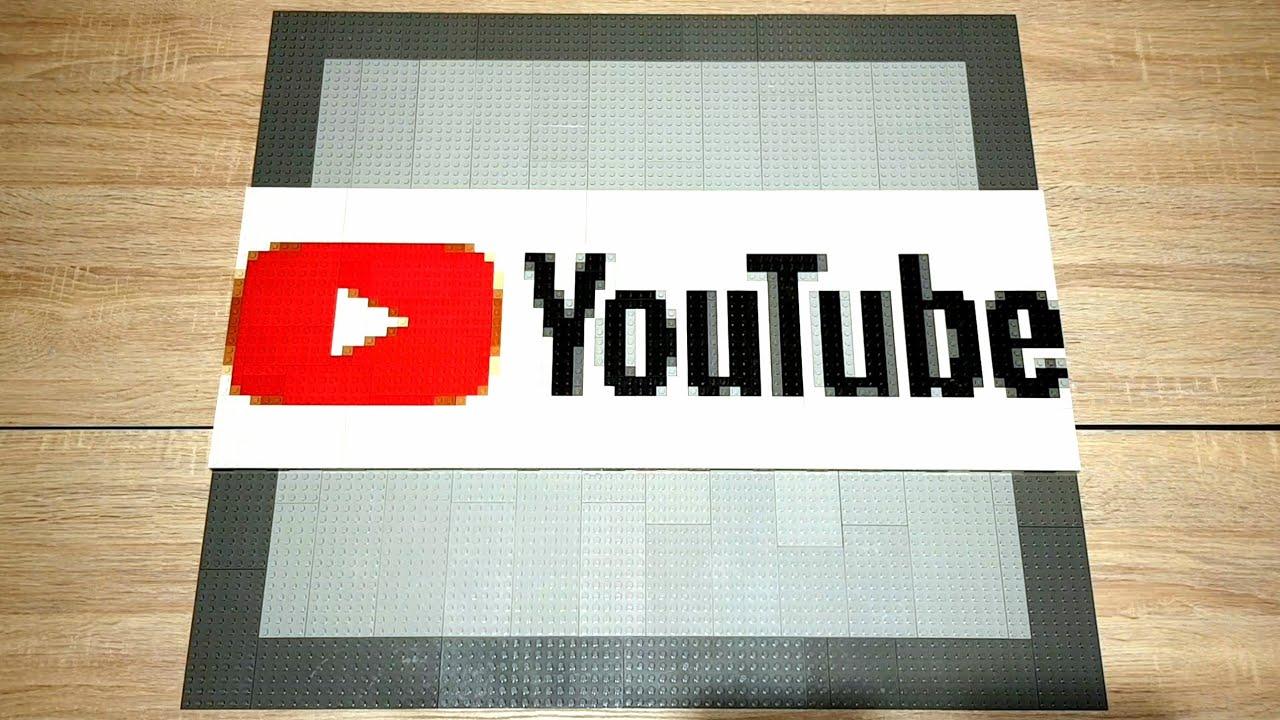 Lego Pixelart Youtube Logo Youtube