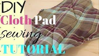 DIY Reusable Pad Sewing Tutorial, Zero Waste
