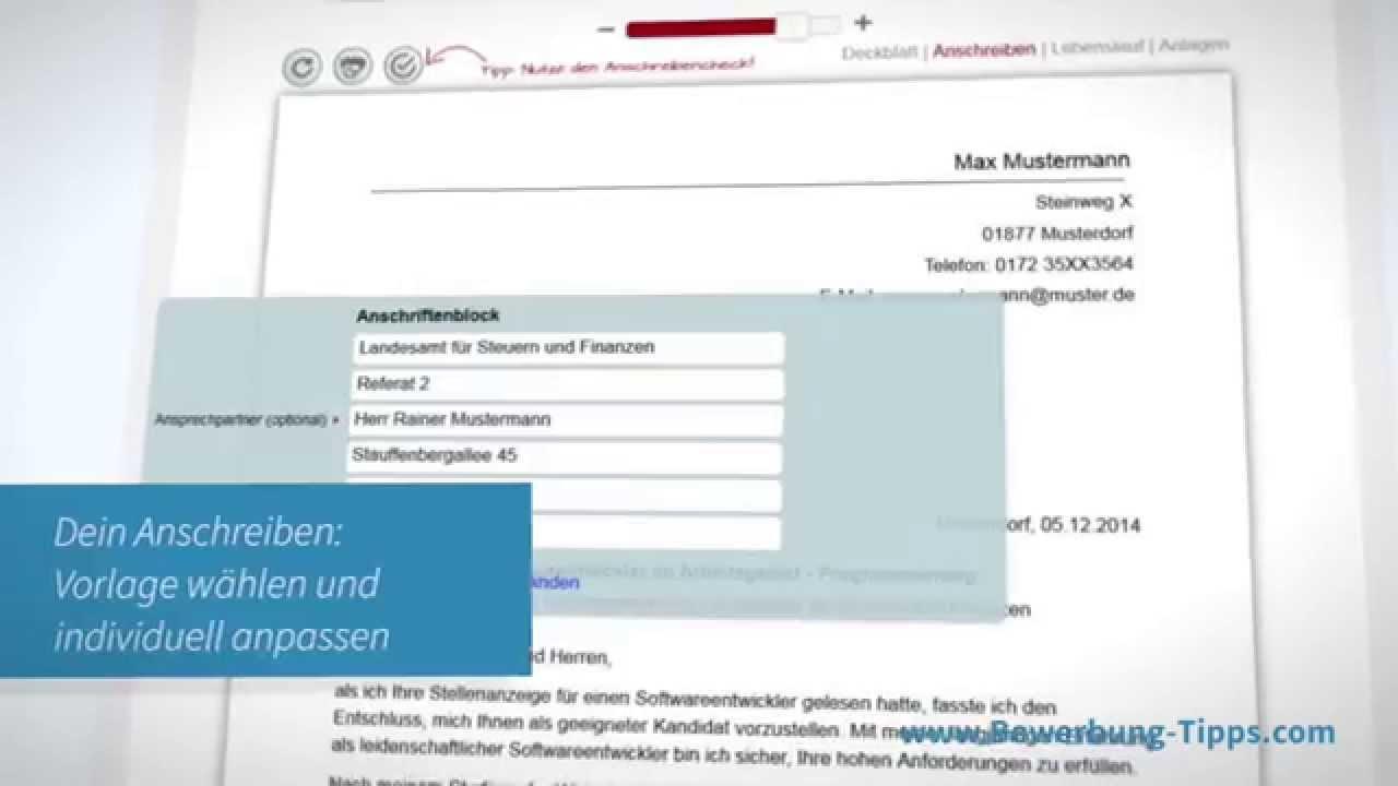 Online Bewerbung Schreiben Mit Dem Bewerbungs Editor Youtube