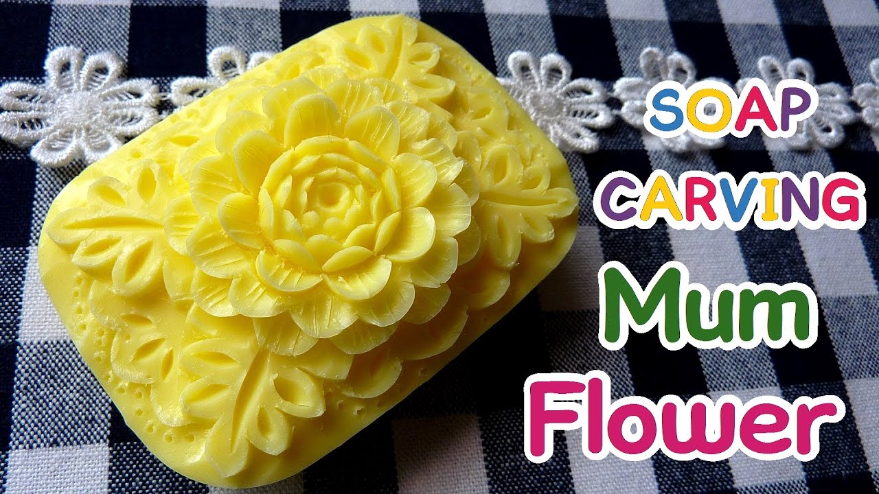 Soap carving basic mum flower tutorial diy