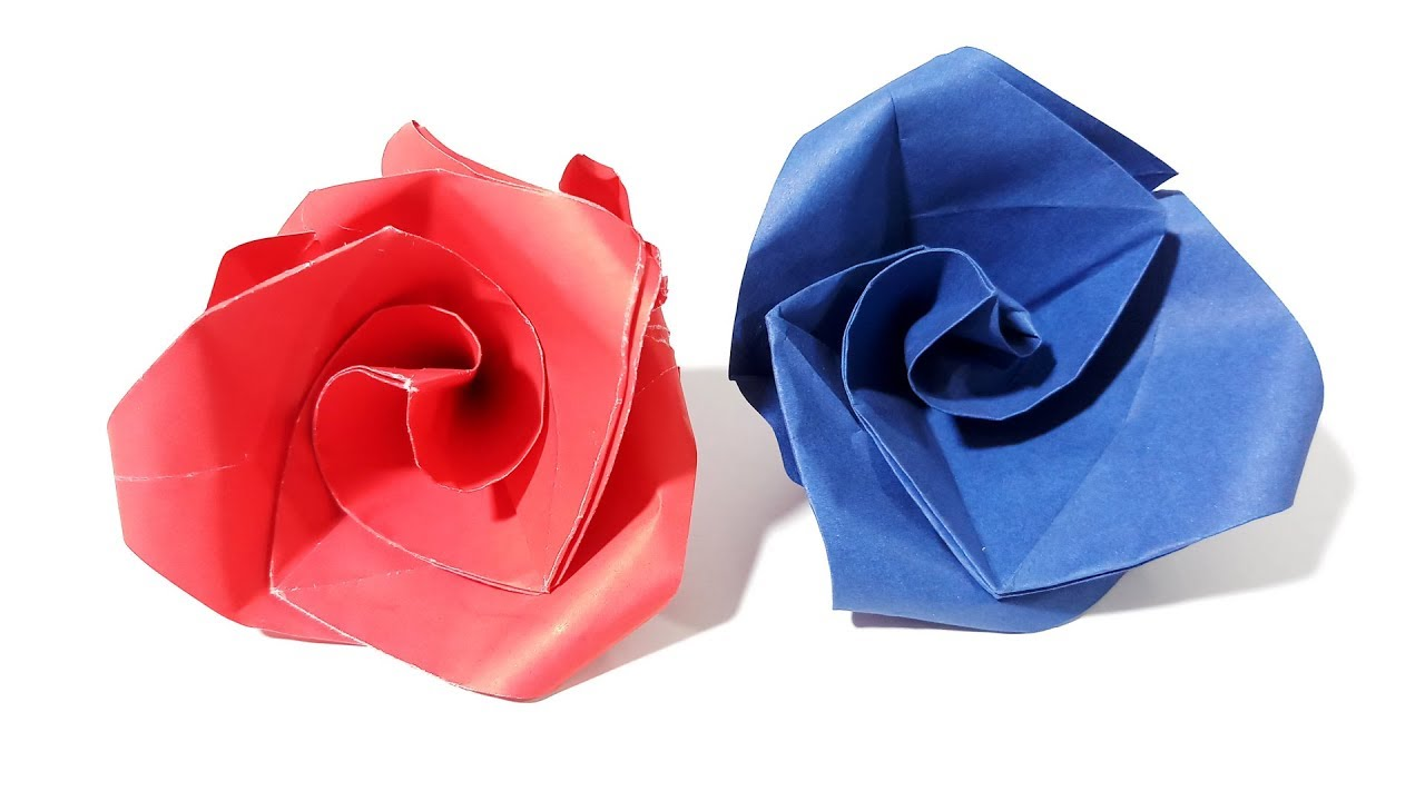How To Make Paper Flowers Easy In Hindi Origami Rose By Soumens Origami Crafts