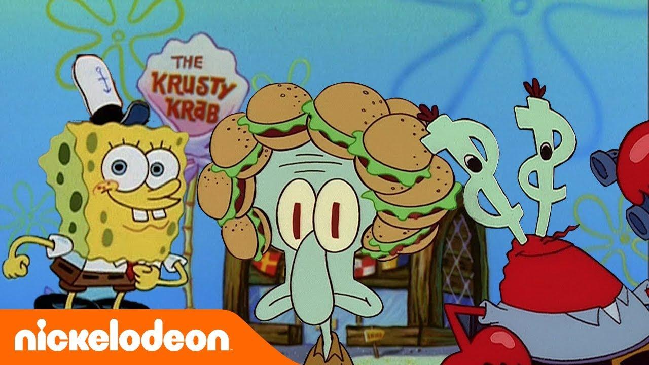SpongeBob Schwammkopf | Krabbenburger-Momente 🍔| Nickelodeon Deutschland