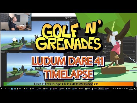 Ludum Dare 41 Timelapse - Making a game in 48 Hours - Golf N' Grenades