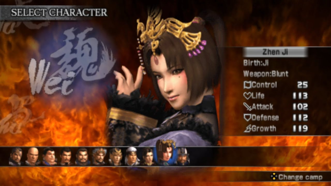Dynasty Warriors All Characters [PSP]