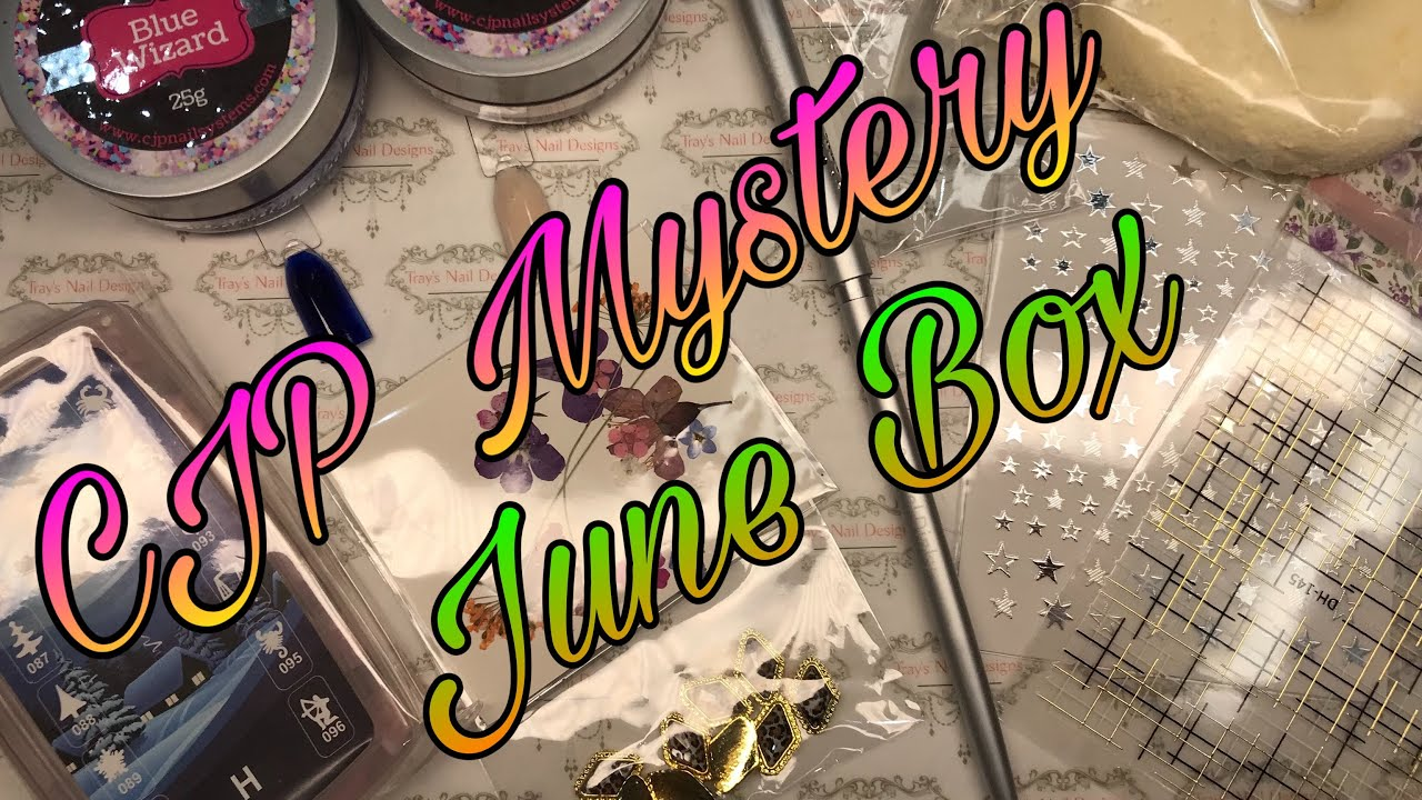 CJP Nail Mail - Open With Me June Mystery Subscription Box includes extra CJelP & CJP Gel Paint