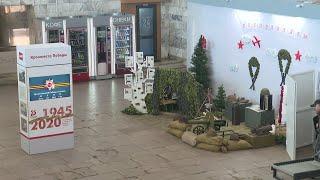 На Ярославле-Главном установили стелу с часами и фотографиями времен Великой Отечественной