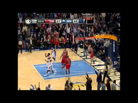 HD   Carmelo Anthony's Buzzer Beater Winning Shot Vs Chicago Bulls   11 26 2010
