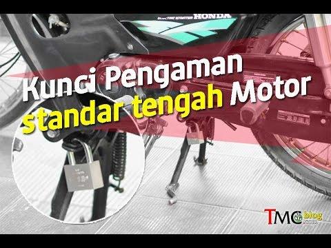 Hasil gambar untuk gembok pengaman standar tengah motor