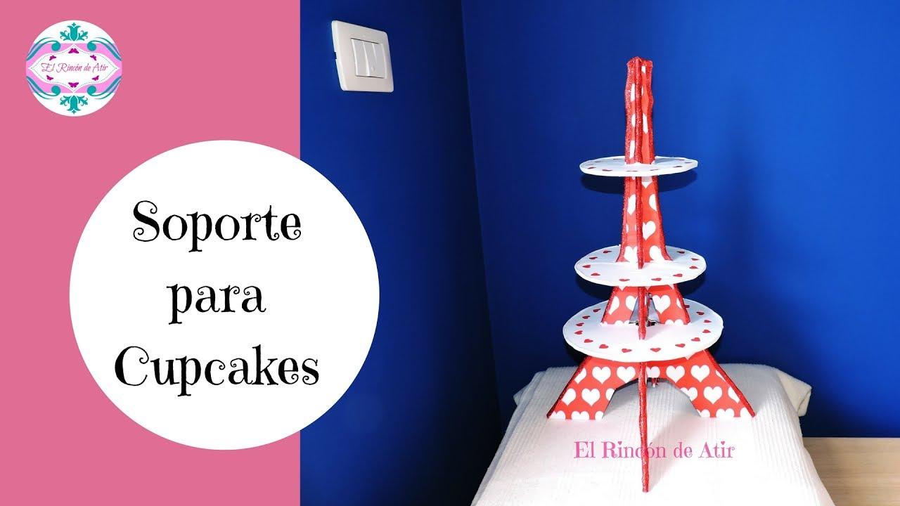 Soporte o exhibidor para cupcakes - Torre Eiffel - Cupcakes Stand ...