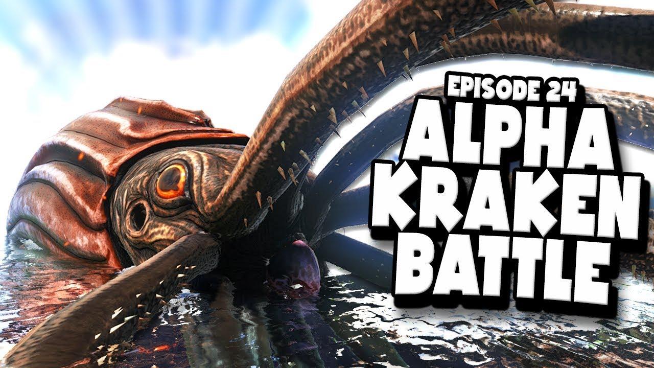 Download ALPHA KRAKEN and MOSASAURUS FIGHT! - ARK: Survival Evolved ASCENSION Ep #24