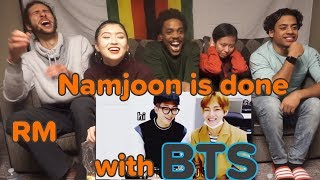 namjoon being done with bts english | REACTION