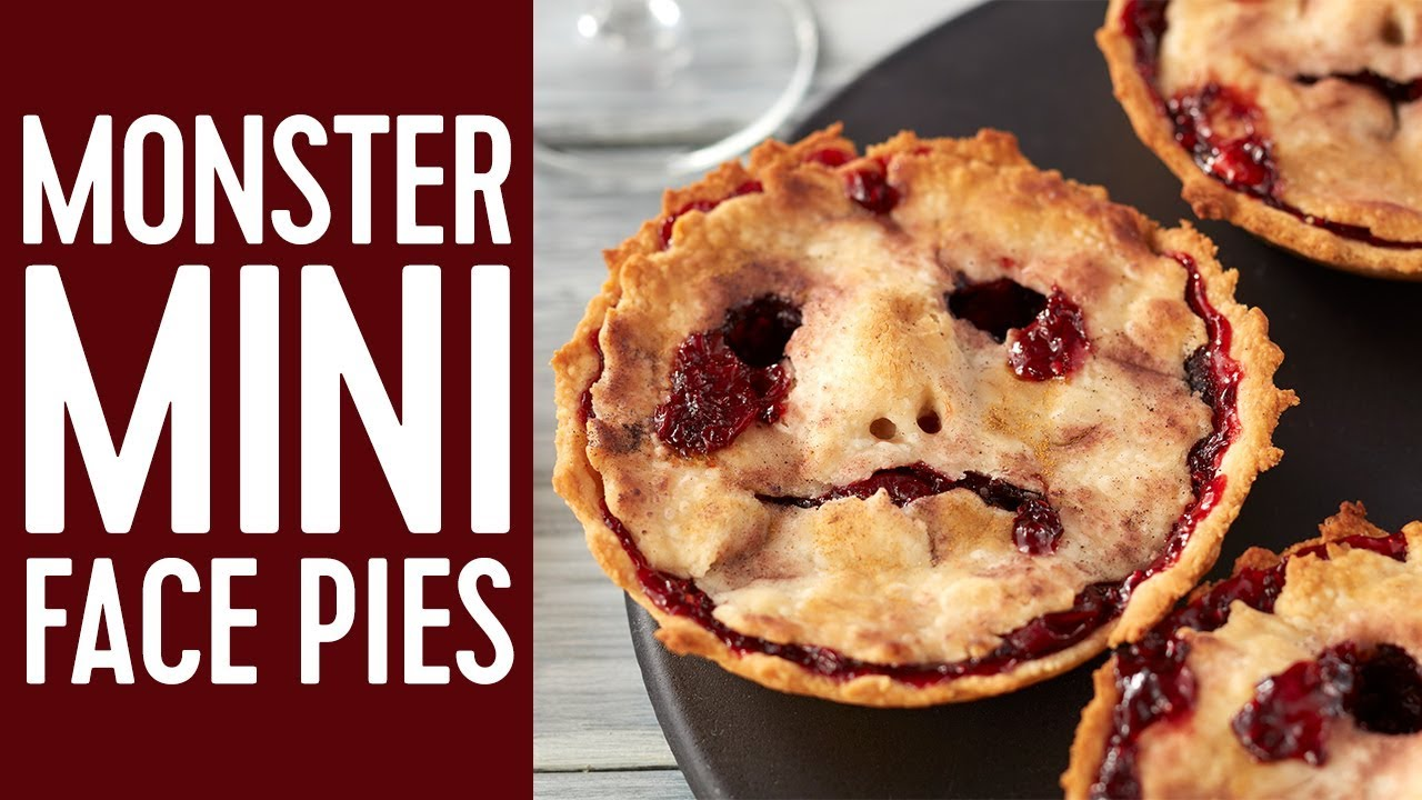 How to Make Halloween Mini Pie Faces - YouTube