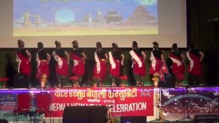"KAUDA DANCE GRNC NEPALI NEW YEAR PARTY 2016 (2073) UK - ""SAINO RAMRO"""