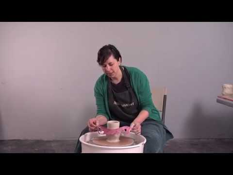 How To Use Cheap Craft Store Tools To Add Playful Details To A Wheel Thrown Cup | CHANDRA DEBUSE