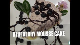 Blueberry Mousse Cake  Jagodowy Mus na Biszkopcie Pycha Episode#21