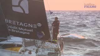 Tom Laperche sur l'étape 2 - La Solitaire du Figaro 2021