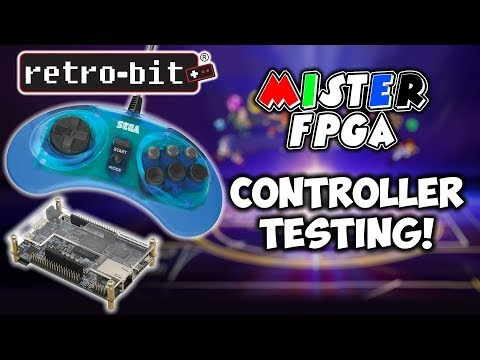 MiSTer FPGA Retro-Bit Official Sega Genesis USB Controller Testing! thumbnail