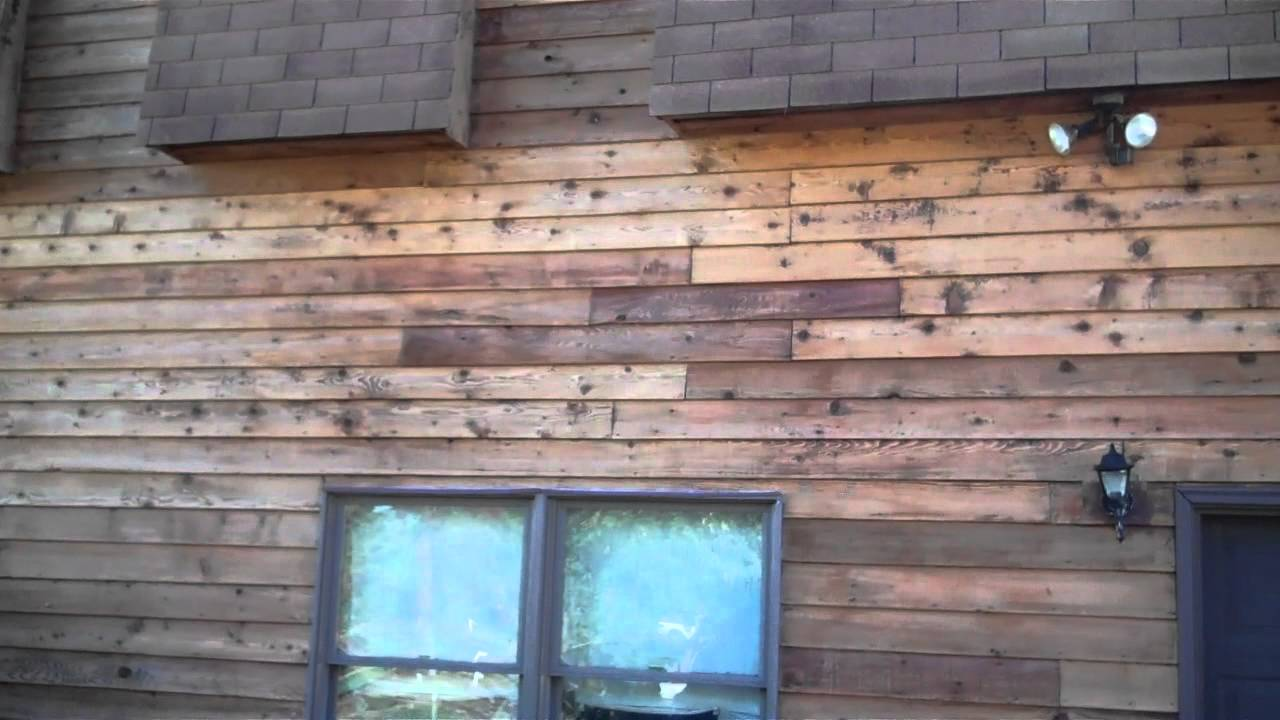 Stripping Reviving And Staining Wood Siding Youtube