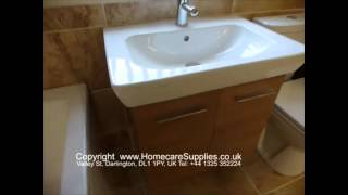 Vitra S20 60cm Wide Double Door Golden Cherry Vanity Unit From Homecare Supplies Darlington