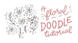 a floral doodle tutorial // cheyenne barton