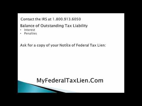 How to Remove an Unpaid Tax Lien From Your Credit Report - Step 1