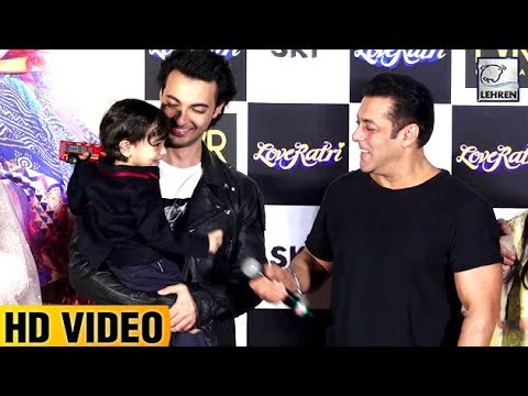 Salman's Nephew Ahil Sharma's Cute Moments At LoveRatri Trailer Launch | LehrenTV