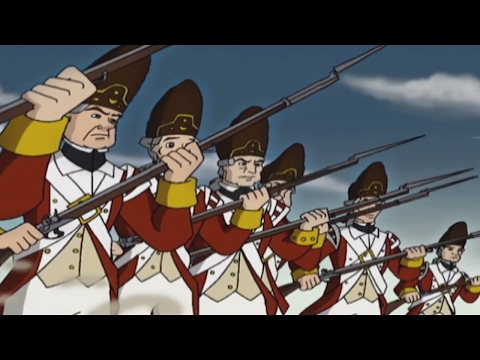 Liberty's Kids HD 106 - The Shot Heard 'Round the World | History Cartoons for Children