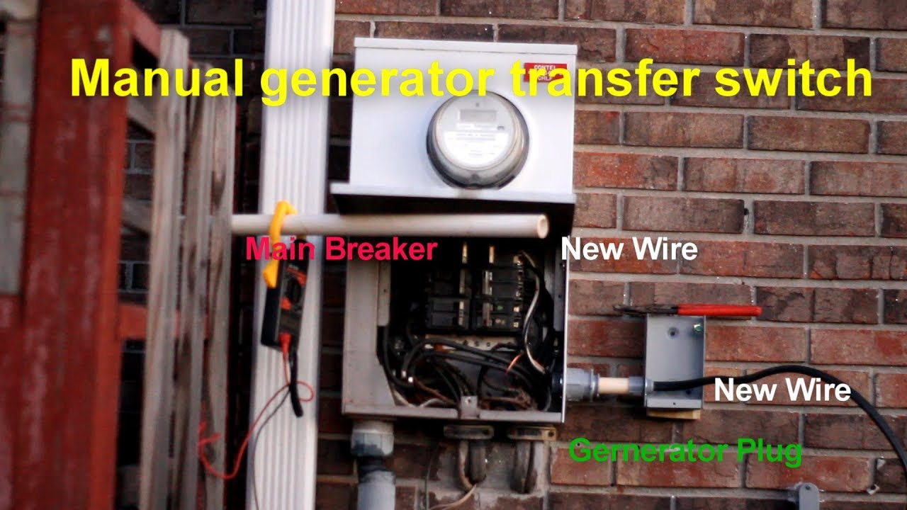 Manual Generator Transfer Switch Install Youtube Wiring Schematic
