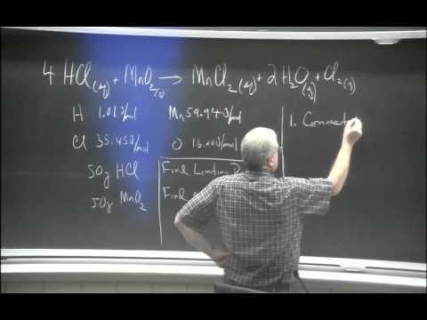 Stoichiometry: Limiting Reactant Problems Video Lecture