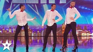 MEN IN HEELS Dance INCREDIBLE SPICE GIRLS Tribute On Britain's Got Talent!
