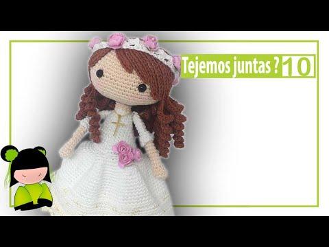 BLOG!!  y Como tejer muñeca de comunión paso a paso ❤ 10 ❤ ESCUELA GRATIS AMIGURUMIS