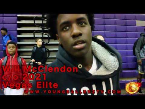 YoungBallerzTV : WILL MCCLENDON C/O 2021 VEGAS ELITE