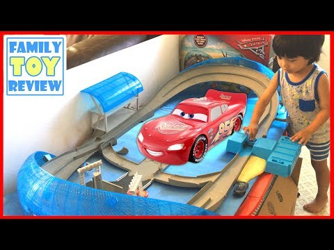 NEW Cars 3 Toys Ultimate Florida Speedway 🔴 Live Toy Unboxing Florida 500 Speedway Playset Disney