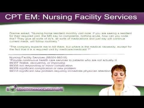 Free Medical Coding Tutorial How To Code Nursing Home Visits Youtube