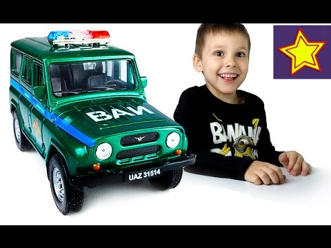 Машинки Welly УАЗ Военная инспекция распаковка игрушки Kids welly toys unboxing