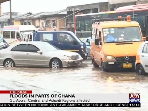 Floods in Parts of Ghana - The Pulse on JoyNews (6-10-17)