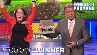 Repeat youtube video Wheel of Fortune: $100,000 Winner!