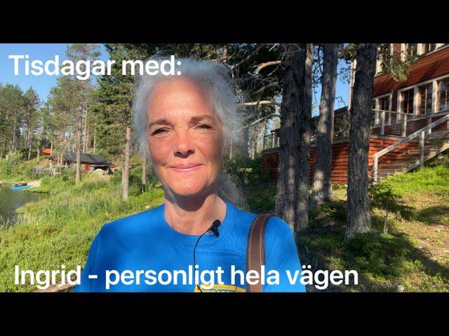 Ingrid tankar i skogen i Kangos