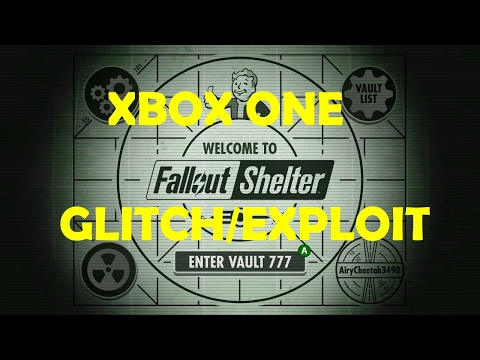 FALLOUT SHELTER XBOX ONE WORKING EXPLOIT GLITCH!