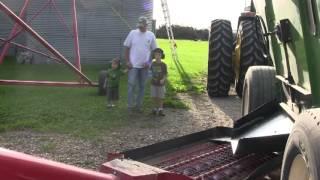 Minnesota Soybean and Corn Harvest on Family Farm