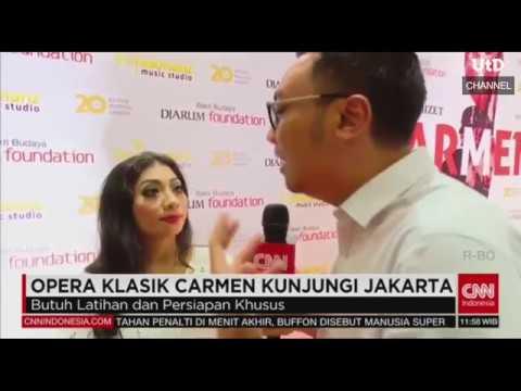 Heny Janawati pemeran CARMEN dlm Opera CARMEN di Jakarta