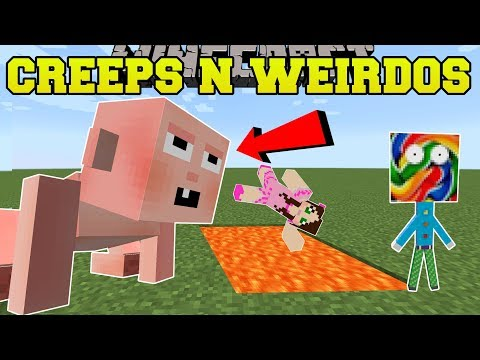 Minecraft: MORE CREEPS & WEIRDOS!!! (BIG BABY, LOLIPOP MAN, & MORE!) Mod Showcase