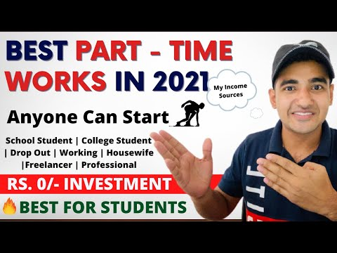 5 Best Part-time Jobs For Students in 2021 | Start From Today | Easy Work From Home Jobs | Freelance