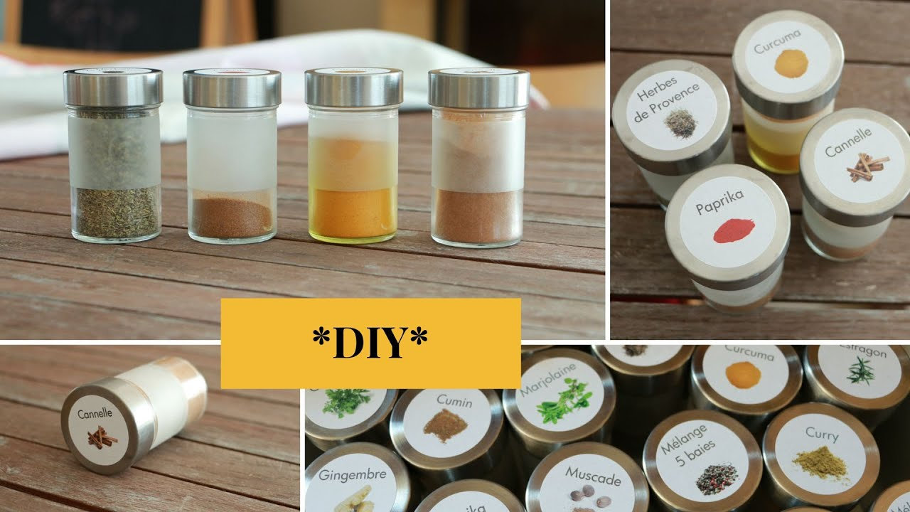 Diy etiquettes pour pot pices youtube - Faire sa cuisine amenagee soi meme ...