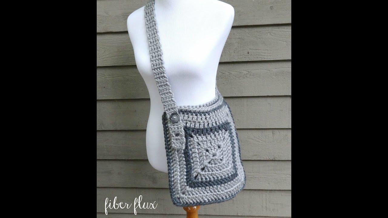 Easy Crochet Crossbody Bag Pattern : How To Crochet the Cozy Messenger Bag, Episode 237 - YouTube